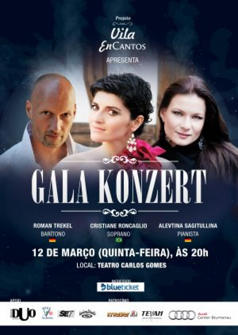 Cartaz do concerto internacional Gala Konzert